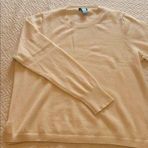 Cream JCrew Cashmere Sweater
